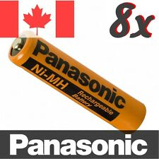 8 Pcs Panasonic NiMH AAA Rechargeable Battery for Cordless Phone. HHR-75AAAB