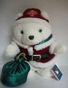 1998 Santa Bear, Dayton Hudson's, Santa Christmas Sack and Presents 18 IN