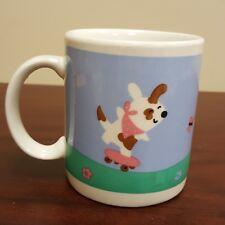 Animated Dog Running Catching Butterflies Coffee Mug