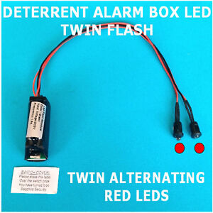 Deterrent Alarm Box LEDs Twin Flash/Alternating RED LED's 10 yr Battery Fitted