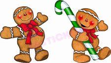 Casa de pan de jengibre Hombre y del árbol de Navidad 8 conjunto de la etiqueta engomada