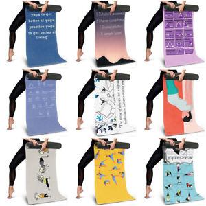Adult Large Yoga Mat Pilates Bikram Fitness Exercise Mat Novelty Yoga Pose Print
