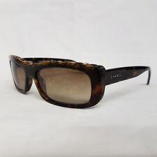 Chanel Havana Sidestreet Leather Chain Sunglasses 5130-q