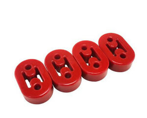 Universal Car 4x Red Polyurethane Rubber 2 Hole 11.5MM Exhaust Muffler Hanger