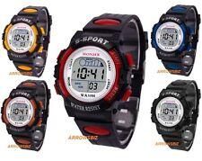 Reloj pulsera deportivo digital LED multifunctions Unisex Niños Chicos Chicas vendedor del Reino Unido