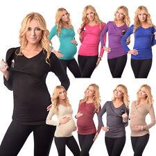 2in1 Maternity & Nursing V Neck Top Breastfeeding Size 8 10 12 14 16 18 7014
