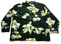 Tommy Bahama Womens Floral Hawaiian Button Front Silk Shirt Size Small
