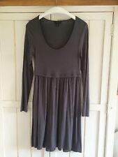 THE WHITE COMPANY Dark Grey Jersey Dress, Size S