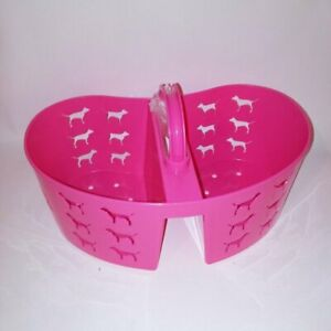Victoria Secret PINK Shower Caddy Storage Basket Heart Pink Dog Logo College