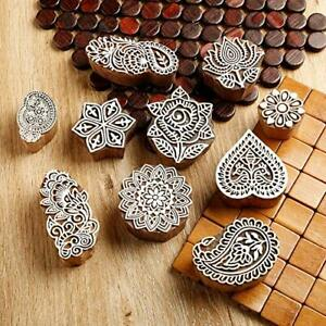 Hand Carved Printing Stamp Block for Mehandi/Textile Printing/Pottery Carft/Sare