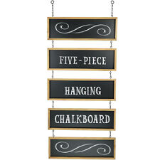 Hanging Chalkboard Sign withConnected Panels & Chains: 32 1/2 x 15 3/4