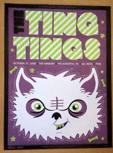 THE TING TINGS - PHILADELPHIA - MYSPACE SECRET SHOW CONCERT POSTER - 2010