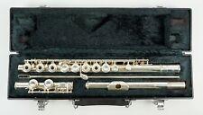 Yamaha YFL 281 Intermediate Silver Plate Flute w Case Open Hole Inline G Japan