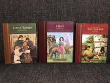 El gran Clásicos Para Niños Lote De 3 Libros De La Serie Heidi Tom Sawyer Little Women