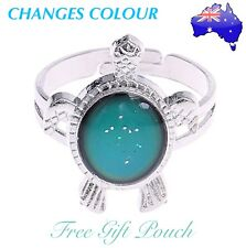 Turtle Tortoise Mood Ring Temperature Emotion Feeling Colour Changing Adjustable