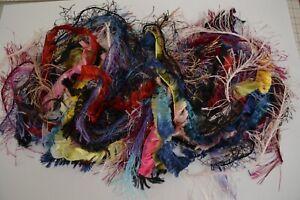 Yarn Fibres 12m Junk Journal Art Mixed Bag Eyelash Fancy Trim Tags DIY Craft