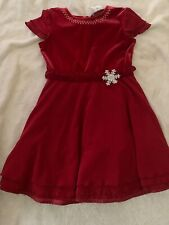 American Girl Size 7 Red Dress