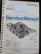 Service Manual  Philips Auto Cassette Deck P6