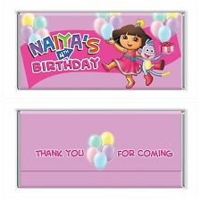 Dora The Explorer Personalised Chocolate Wrapper Gloss 4x6 to suit Aldi Bars