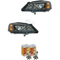 Xenon Headlight Set Opel Astra G 97-04 Black D2S +H7 Incl. Lamps 1366994