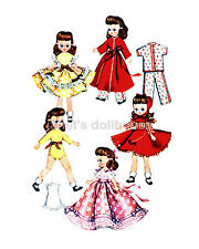 Over 80 complete DOLL patterns LOT of 400 Outfits! Vintage Repros on CD+19 FREE