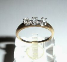Delicate Three-Diamond 14K Gold Ring