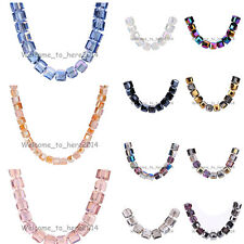 10mm Cube For Necklace & Bracelet Findings Loose Glass Crystal Beads 42Colors