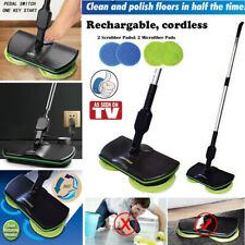 Spin Maid Rechargeable Cordless Powered Floor Cleaner Scrubber Polisher Mop