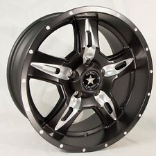 "(4) REBEL RACING 18"" BLACK MILL WHEELS RIMS 18x9 5x5 