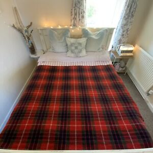 Rustic Tartan Checked Woolly Blanket Throw Red Picnic Travel Armchair Rug Throw