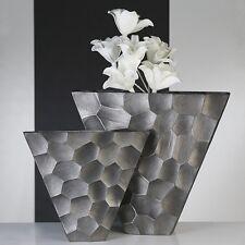 """Vase """"Nosta"""" Alu, anthrazit Höhe 40,5cm m. wabenähnlicher grob gehäm. Oberfläche"""