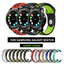 For Samsung Galaxy Watch 42mm/46mm Gear S3 Replacement Silicone Sport Band Strap