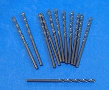 "LOT OF TWELVE 7/64"" BLACK OXIDE HIGH SPEED STEEL DRILL BIT HSS GRAINGER"