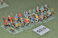 25mm medieval / generic - longbowmen 20 infantry metal painted - inf (5510)