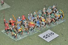 25mm medieval longbowmen 20 infantry (5510) metal painted