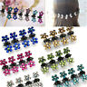 6/12X Baby Girls Hair Claws Barrette Mini Crystal Flower Hair Clips Child Gift