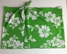 Women's Green & White Floral Bathing Suit Cover up Wrap - Size Medium