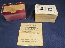 Flinch, The Acme of Parlor Games, Flinch Card Co. 1913