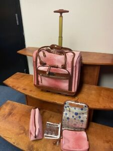 SAMANTHA BROWN ROLLING OMBRE UNDERSEAT WITH ACCESSORIES DUSTY ROSE  CARRY ON