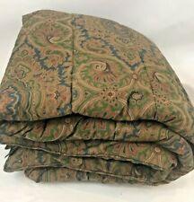Ralph Lauren Brianna Paisley Full Queen Comforter Cotton Sateen Brown