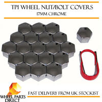 TPI Chrome Wheel Bolt Covers 17mm Nut Caps for Alfa Romeo Mito 09-16