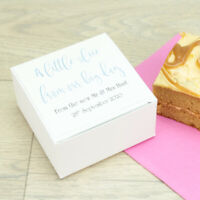 10 Personalised Classic Wedding Cake Favour Boxes