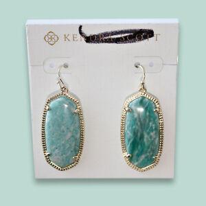 KENDRA SCOTT Earrings Green Amazonite ELLE Gold Plated