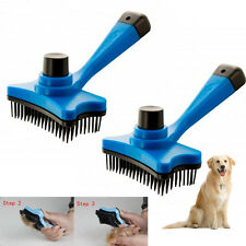 2 Pack Self Cleaning Grooming Slicker Brush Pet Dog Cat Comb Hair Trimmer Shed