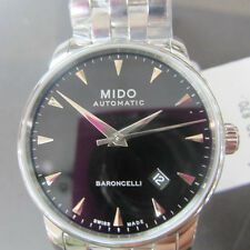 MIDO BARONCELLI MEN'S WATCH AUTOMATIC ALL S/S SAPPHIRE ORIGINAL SWISS M86004181