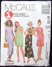 McCalls Pattern #9172 Misses Relaxed Fit Dress Sleeveless Short Sleeve (6-8-10)