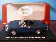 ALFA ROMEO SPIDER DUETTO 1600 1966 MAXICAR 1/43 BLEU CABRIOLET ROADSTER BLUE