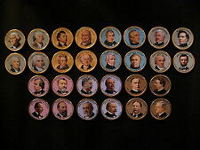 2007-2013 Colorized Set Of President Dollar Coins - P Mint (Colorized Head Only)