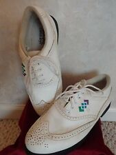 Pair of Foot-Joy Green-Joys Ladies Golf Shoes Size 8M (#1831)