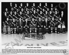 1983-1984 NEW YORK RANGERS 8X10 TEAM PHOTO